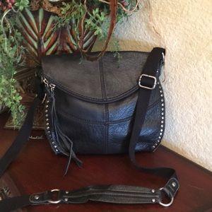 The Sak black studded leather Crossbody